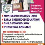 AMI teacher trainingcourse in kandy, eteccampus kandy, etec campus,AMI Teacher training,TVEC Approved ,Teacher Training,etec campus Leaflets,leaflets