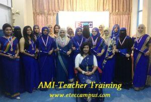 AMI teacher trainingcourse in kandy, eteccampus kandy, etec campus,Teacher Training