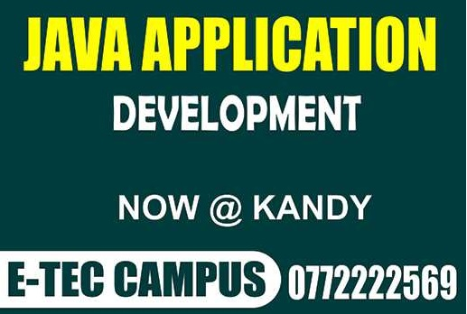 Java application developmet course in kandy,java course,programming courses in kandy