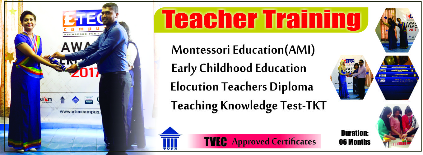 teacher training course in kandy,TKT in kandy,AMI in kandy